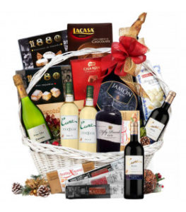 cestas-de-navidad-con-vino-blanco