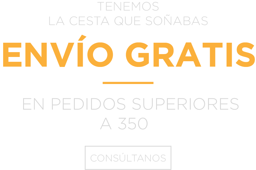 ENVÍO GRATIS EN PEDIDOS SUPERIORES A 350
